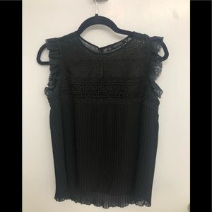 Zara lace and pleated top size Small